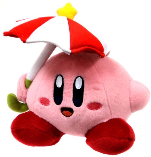 Nintendo Kirby's Adventure Parasol Kirby 6-Inch Plush