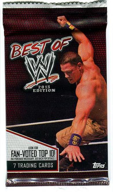 WWE Wrestling Topps 2013 Best of WWE Trading Card Pack