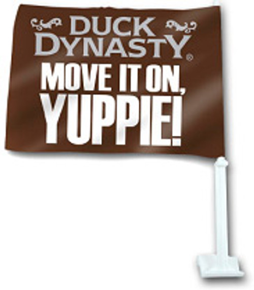 "Duck Dynasty ""Move It On, Yuppie!"" Car Flag"
