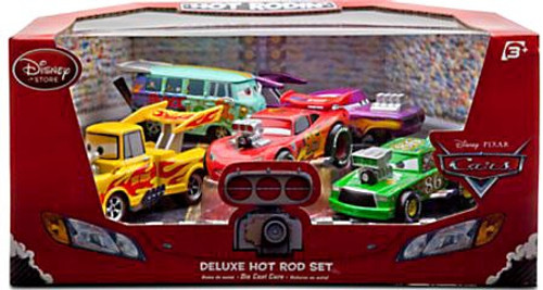 Disney / Pixar Cars 1:43 Deluxe Sets Hot Rod Exclusive Diecast Car Set
