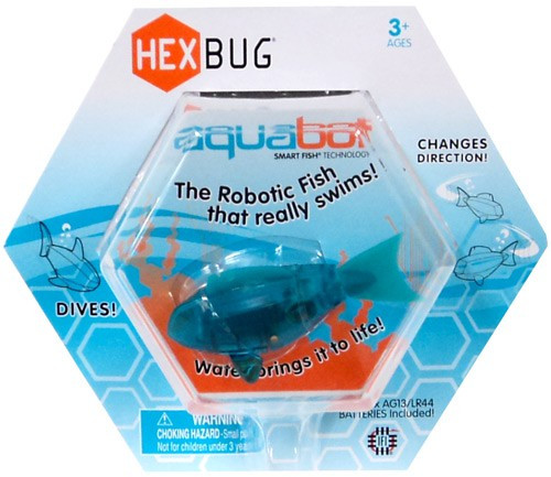 Hexbug Aquabot Teal Fish 3-Inch Electronic Pet