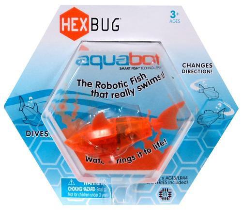 Hexbug Aquabot Orange Shark 3-Inch Electronic Pet