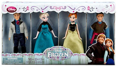 Disney Frozen Elsa, Anna, Kristoff & Hans Exclusive Mini Doll Set 4-Pack