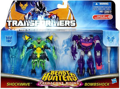 Transformers Prime Beast Hunters Predacons Rising Bombshock & Shockwave Exclusive Action Figure 2-Pack