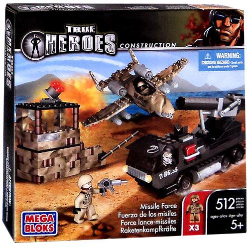 Mega Bloks True Heroes Construction Missile Force Set