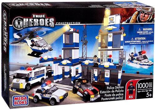 Mega Bloks True Heroes Construction Police Station Set