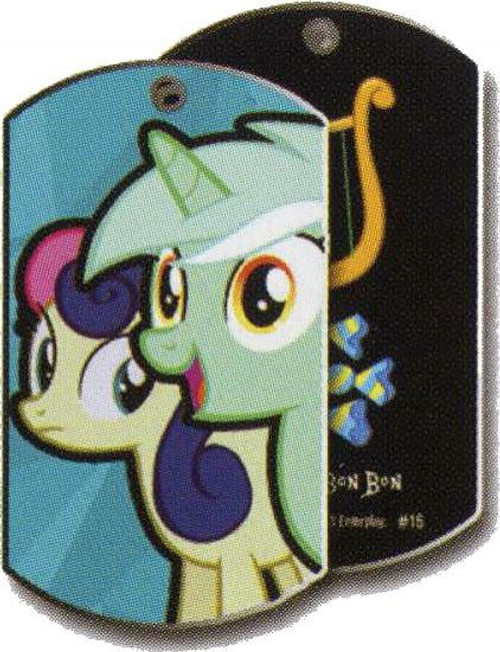 My Little Pony Friendship is Magic Dog Tags Lyra Heartstrings & Bon Bon Dog Tag #16 [Loose]
