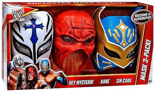 WWE Wrestling Rey Mysterio, Kane & Sin Cara Mask 3-Pack