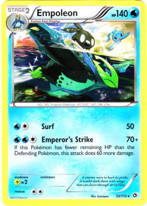 Pokemon Black & White Legendary Treasures Rare Empoleon #35