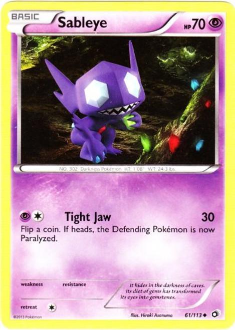 Pokemon Black & White Legendary Treasures Uncommon Sableye #61