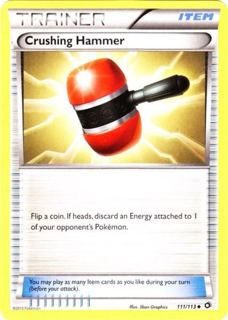 Pokemon Black & White Legendary Treasures Uncommon Crushing Hammer #111