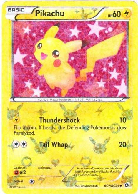 Pokemon Black & White Legendary Treasures Radiant Collection Uncommon Pikachu RC7