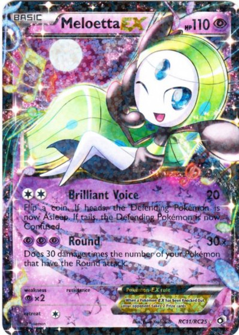 Pokemon Black & White Legendary Treasures Radiant Collection Ultra Rare Meloetta EX RC11