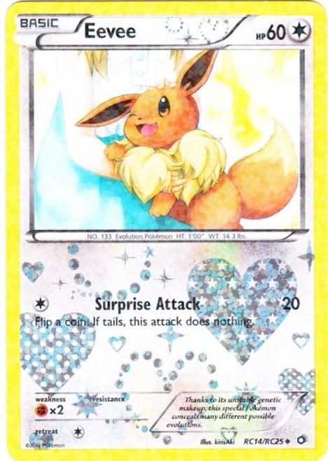 Pokemon Black & White Legendary Treasures Radiant Collection Uncommon Eevee RC14