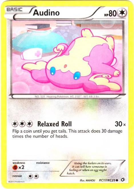 Pokemon Black & White Legendary Treasures Radiant Collection Common Audino RC17