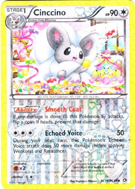 Pokemon Black & White Legendary Treasures Radiant Collection Uncommon Cinccino RC19