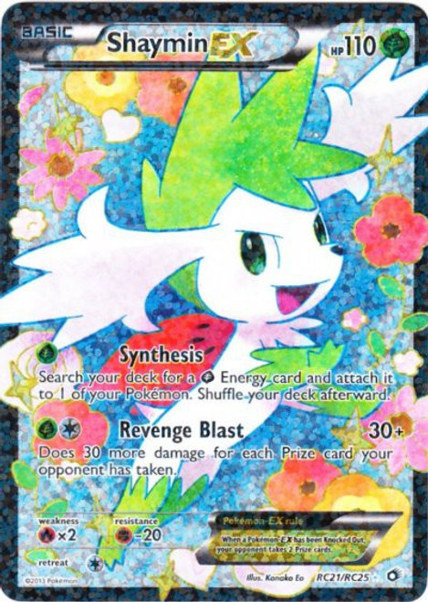 Pokemon Black & White Legendary Treasures Radiant Collection Ultra Rare Shaymin EX RC21