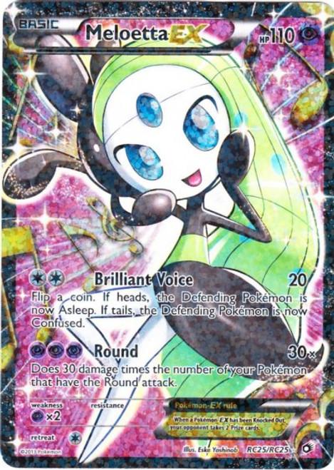 Pokemon Black & White Legendary Treasures Radiant Collection Ultra Rare Meloetta EX RC25