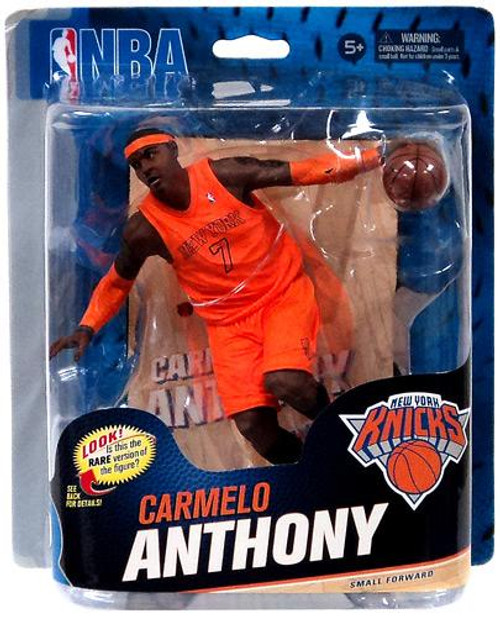 McFarlane Toys NBA New York Knicks Sports Picks Series 23 Carmelo Anthony Action Figure [Orange Christmas Jersey]