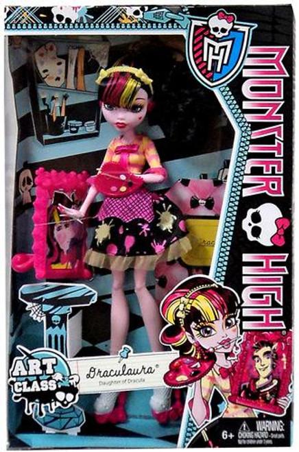 Monster High Classroom Art Class Draculaura 10.5-Inch Doll