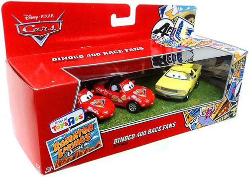 Disney / Pixar Cars Radiator Springs Classic Dinoco 400 Race Fans Exclusive Diecast Car 3-Pack [Mia, Tia & Jay W.]