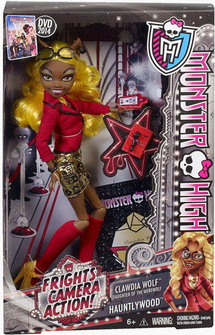 Monster High Frights, Camera, Action Hauntlywood Clawdia Wolf 10.5-Inch Doll