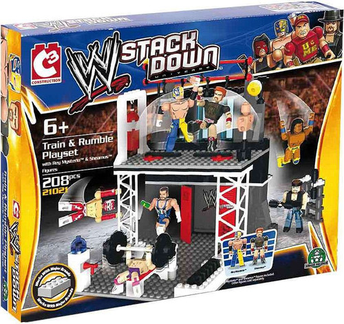 WWE Wrestling C3 Construction WWE StackDown Train & Rumble Playset Set #21021