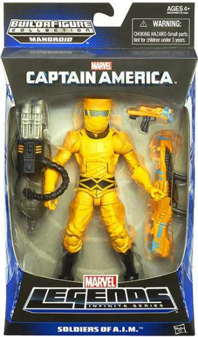 Captain America Marvel Legends Mandroid Series 1 AIM Soldier Action Figure [Yellow Suit - Soldiers of A.I.M.]