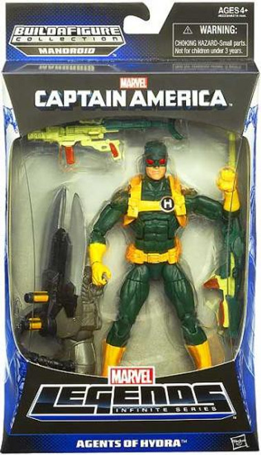 Captain America Marvel Legends Mandroid Series 1 Hydra Soldier Action Figure [Green & Yellow Suit - Agents of Hydra]