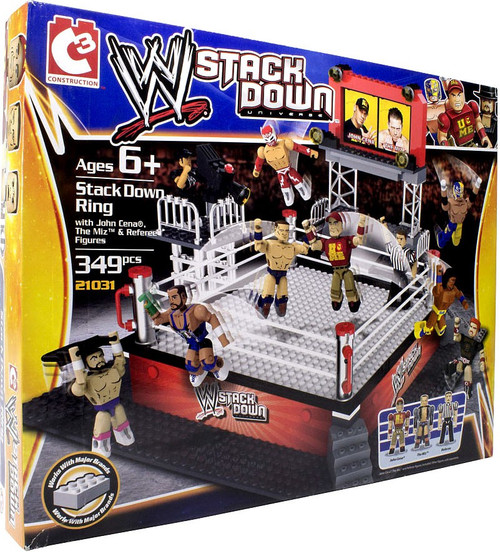 WWE Wrestling C3 Construction WWE StackDown Stackdown Ring Set #21031