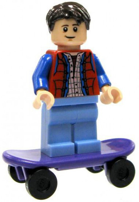 LEGO Back to the Future Marty McFly with Skateboard Minifigure [Loose]
