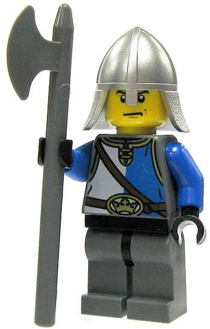 LEGO Castle King's Knight Minifigure [Pole Axe Loose]
