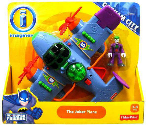 Fisher Price DC Super Friends Imaginext Gotham City The Joker Plane Exclusive 3-Inch Figure Set