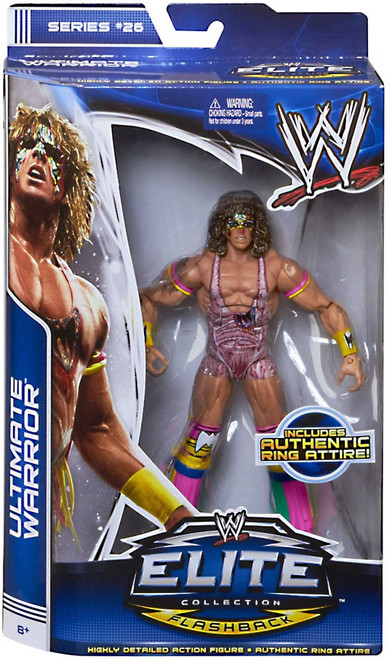 WWE Wrestling Elite Collection Series 26 Ultimate Warrior Action Figure [Authentic Ring Attire]