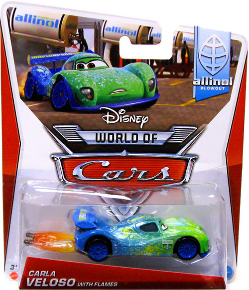 Disney / Pixar Cars The World of Cars Series 2 Carla Veloso with Flames Diecast Car #1 of 9