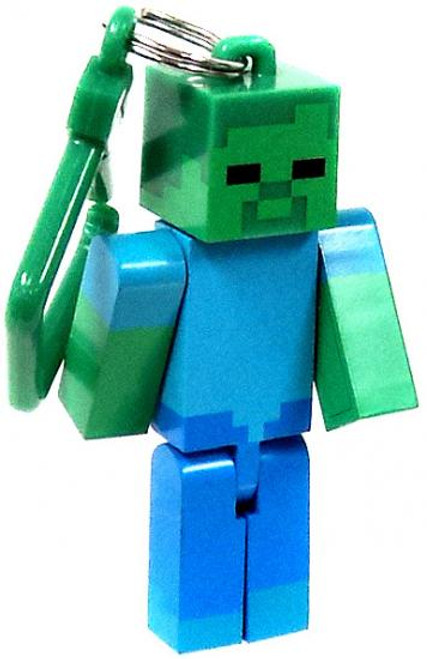 Minecraft Hangers Series 1 Zombie 3-Inch Keychain [Loose]