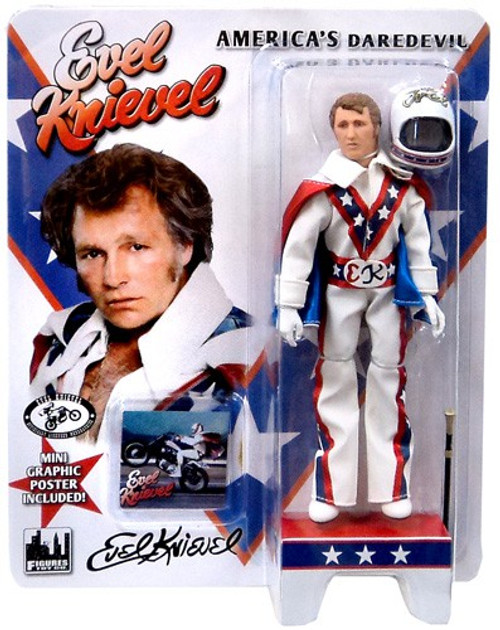Evel Knievel Blue Jumpsuit Action Figure [White Jumpsuit]