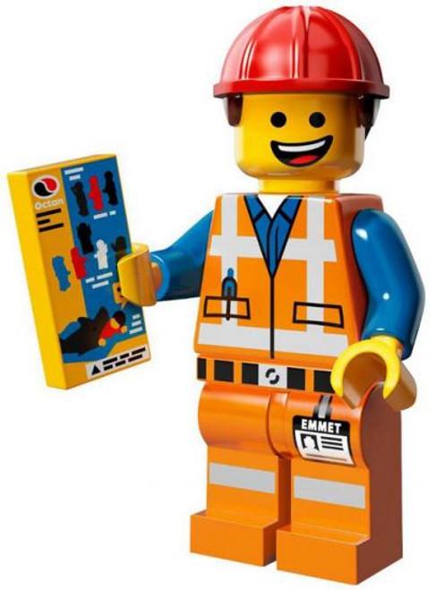 The LEGO Movie Hard Hat Emmet Minifigure [Loose]
