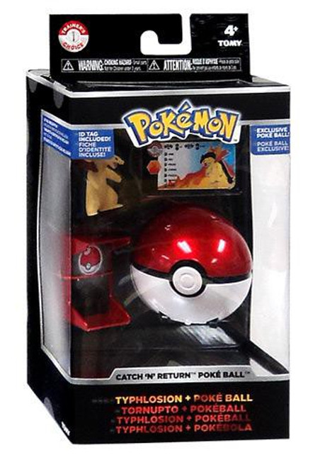 Pokemon Catch n Return Pokeball Typhlosion & Poke Ball Trainer's Choice Figure