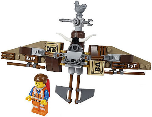 The LEGO Movie Emmet Minifigure [With Glider]