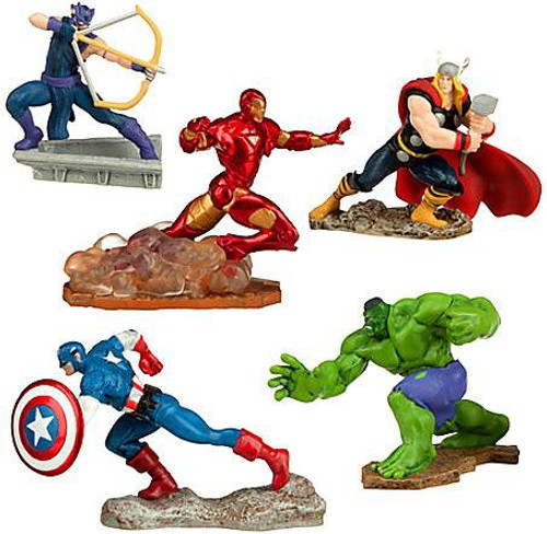 Disney Marvel Avengers Assemble Exclusive 5-Piece PVC Figure Set