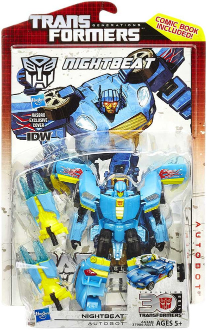 Transformers Generations 30th Anniversary Deluxe IDW Nightbeat Deluxe Action Figure
