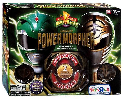 Power Rangers Mighty Morphin Legacy Green & White Ranger Power Morpher Exclusive 4-Inch Roleplay Toy