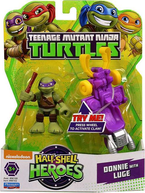 Teenage Mutant Ninja Turtles TMNT Half Shell Heroes Donatello Action Figure [With Luge]