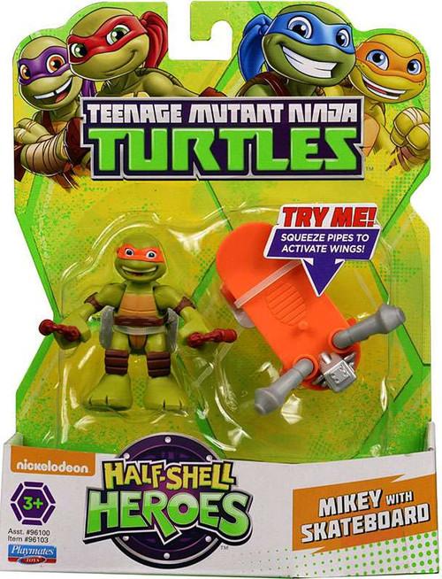 Teenage Mutant Ninja Turtles TMNT Half Shell Heroes Michelangelo Action Figure [With Skateboard]
