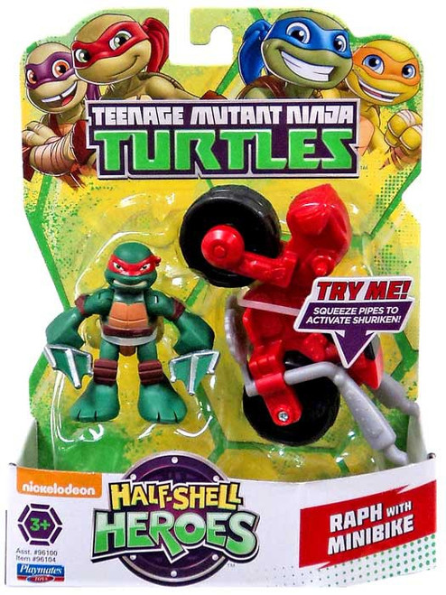 Teenage Mutant Ninja Turtles TMNT Half Shell Heroes Raphael Action Figure [With Mini Cycle]