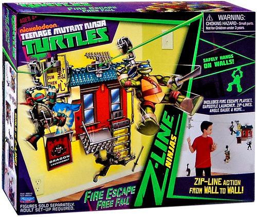 Teenage Mutant Ninja Turtles Nickelodeon Fire Escape Free Fall Playset