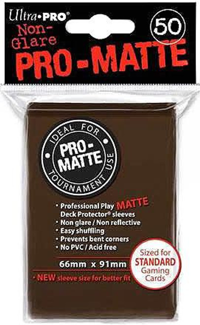 Ultra Pro Card Supplies Non-Glare Pro-Matte Brown Standard Card Sleeves [50 Count]