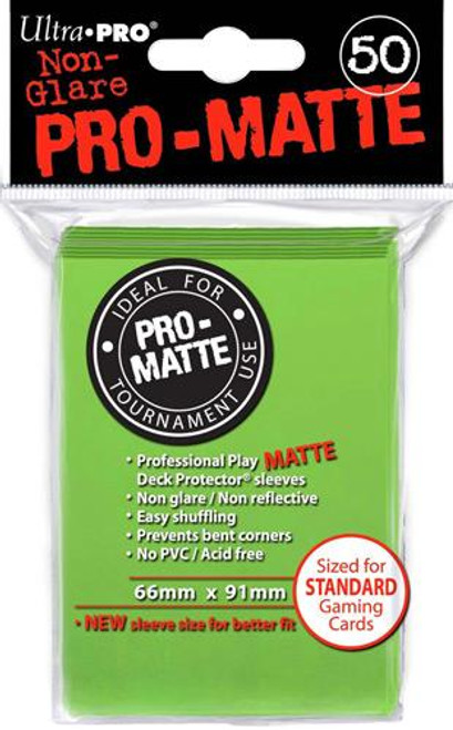 Ultra Pro Card Supplies Non-Glare Pro-Matte Lime Green Standard Card Sleeves [50 Count]