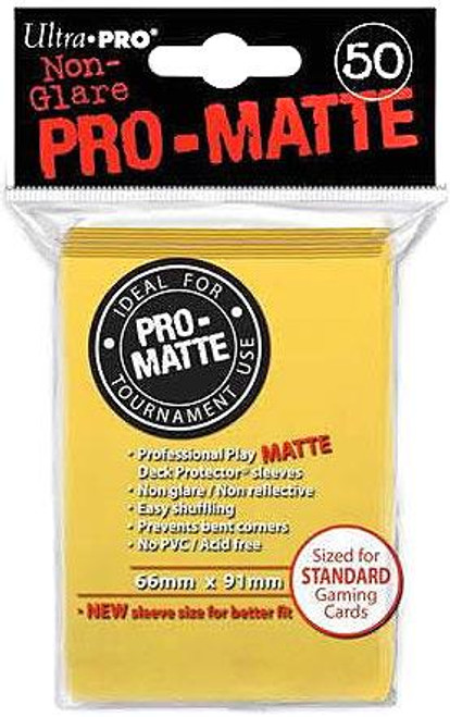 Ultra Pro Card Supplies Non-Glare Pro-Matte Yellow Standard Card Sleeves [50 Count]